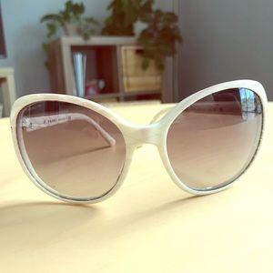 Prada Sunglasses, white frame
